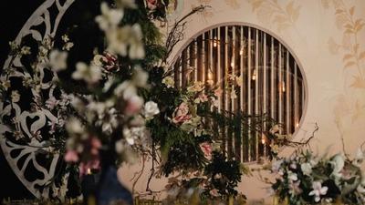 谁说新中式婚礼没创意?香槟色的新中式婚礼