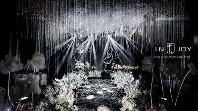 设计感极强的金属婚礼,闪闪亮亮