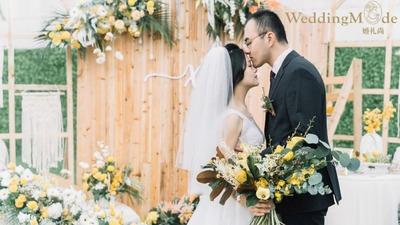 用100%的心去享受婚礼101%的快乐,秋意渐浓的户外婚礼