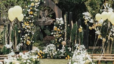 经典简洁的户外森系婚礼