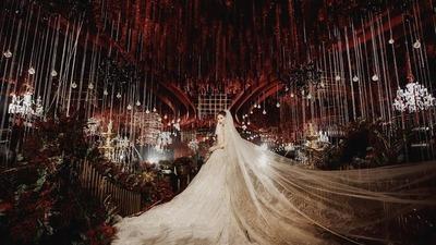 华丽红金色系婚礼