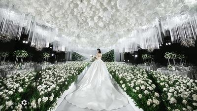 删繁就简,春天快乐,春天的白绿色婚礼