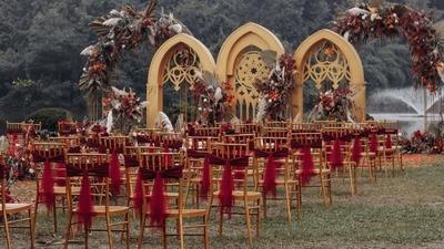 欧式复古户外婚礼