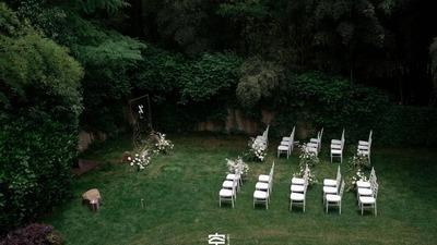 轻松简约的绿色系户外婚礼
