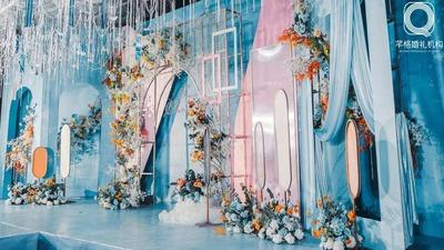 粉蓝色清透婚礼