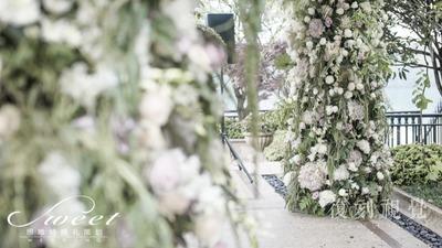 自家庭院的草坪婚礼