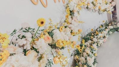 清新黄色带给你婚礼新感觉