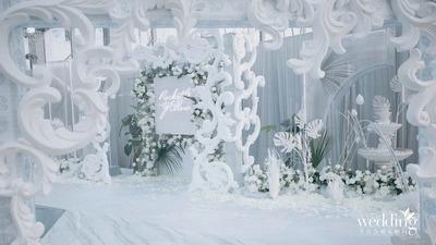 玻璃花房的浪漫婚礼,梦幻至极的沉醉
