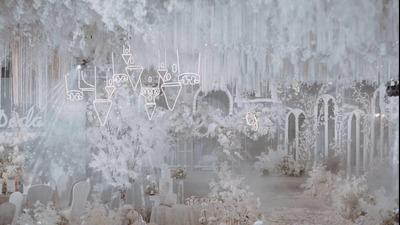 白色童话风婚礼