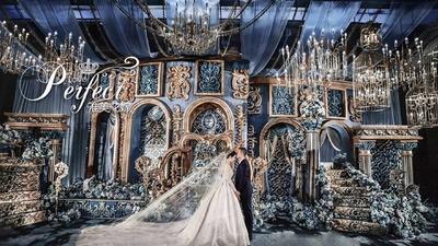 冰蓝色欧式婚礼