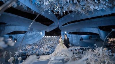 如果富春山居可以不中式,那就办一场西式蓝色婚礼