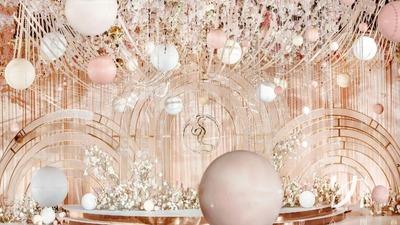 香槟粉的甜蜜婚礼