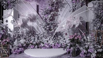高级灰紫色婚礼