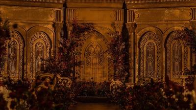穿过深浅岁月,在城堡的星光下聆听属于彼此的心动,大气金色婚礼