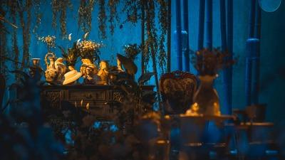 把18世纪法国贵族的chinoiserie风格搬进婚礼
