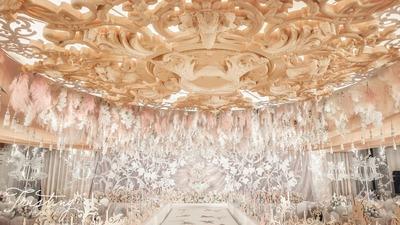 十年一梦,始终是你,香槟粉优雅婚礼