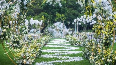 """一场叫做""""serendipity 缘分天注定""""的户外草坪婚礼!"""