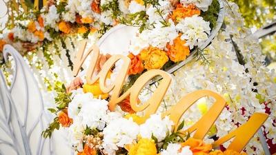 只要是你,多久都等,秋天的户外婚礼