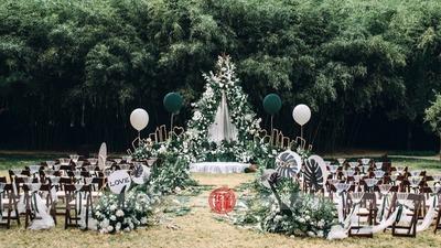 小清新简约风户外婚礼
