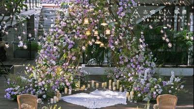 紫色户外婚礼