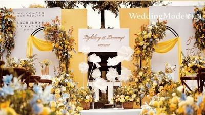黄色系草坪婚礼