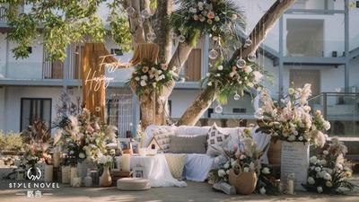 慵懒和暖的冬,户外庭院婚礼