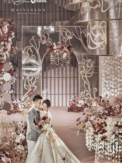 温柔奶茶色系婚礼