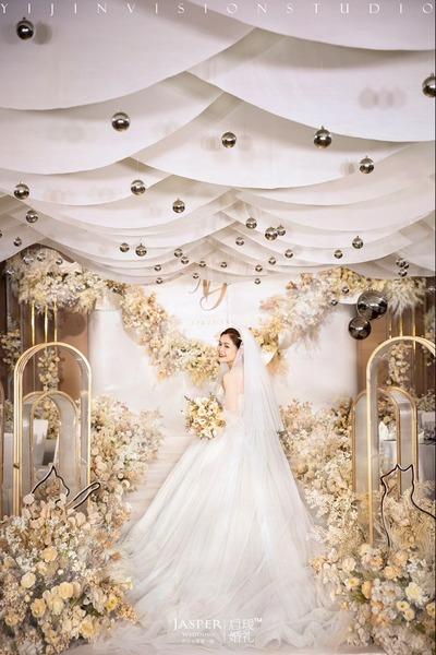 香槟白色系婚礼
