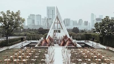 焦糖棕色系户外婚礼