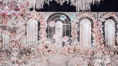 粉色系精致公主童话风婚礼