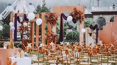 脏橘色户外婚礼