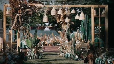 墨西哥风草坪婚礼