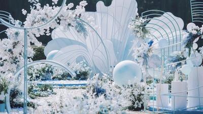 一场以爱之名的蒂芙尼蓝主题婚礼