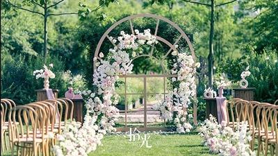粉色系草坪婚礼