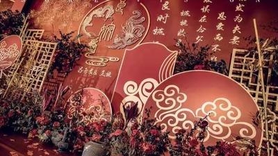 红金配色的中式婚礼,传统文化的韵味之美
