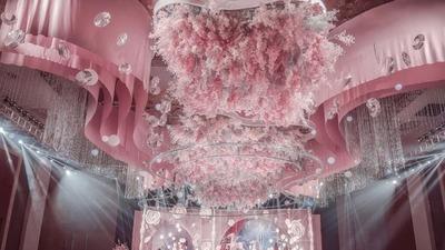 粉色童话主题婚礼,在婚礼上圆儿时的公主梦