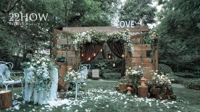 一场慵懒恬淡的户外婚礼,清新而复古的美式花园