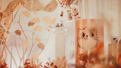 秋色系的枫叶婚礼,焦糖橙色的浪漫优雅