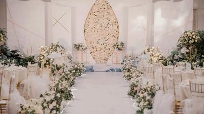 香槟色的温柔大气,简洁有质感的极简婚礼
