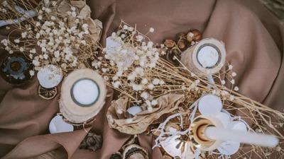 焦糖色秋日婚礼,田园风格的复古气质