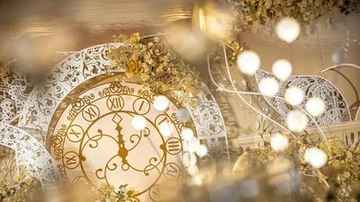 复古金的蒸汽波风格婚礼,神秘又典雅的欧式宫廷婚礼