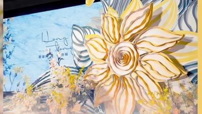 秋冬的暖黄色婚礼,向日葵主题婚礼