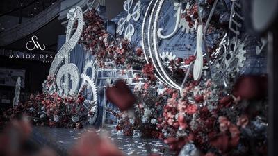 奏响爱情这首浪漫畅想曲,红蓝色魔法神秘婚礼