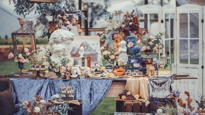 淡紫色田园风婚礼,一场难得的户外婚礼