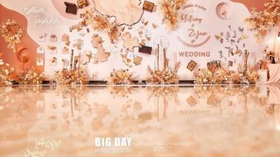 陪你走遍全世界,一场环游世界的秋色系婚礼