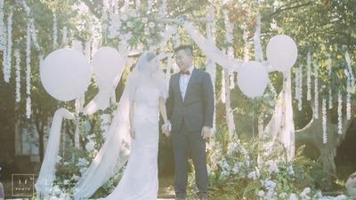 白绿色的森系婚礼,来自森林里深处的光和浪漫