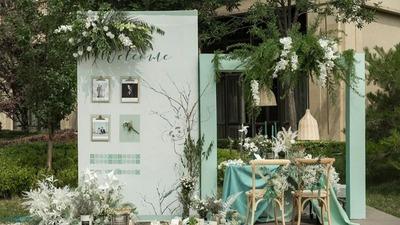 清新的绿色婚礼,温柔又冷静,与生俱来的性感低调