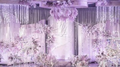 夏天的风是梦幻般的紫色,让人心生向往的紫色婚礼