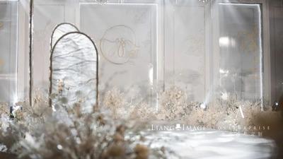 一场梦幻高雅的香槟色婚礼,源自内心的深情独白
