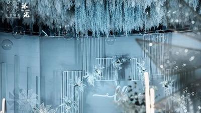 温柔缱绻的蓝色婚礼,自然与现代美学的完美融合
